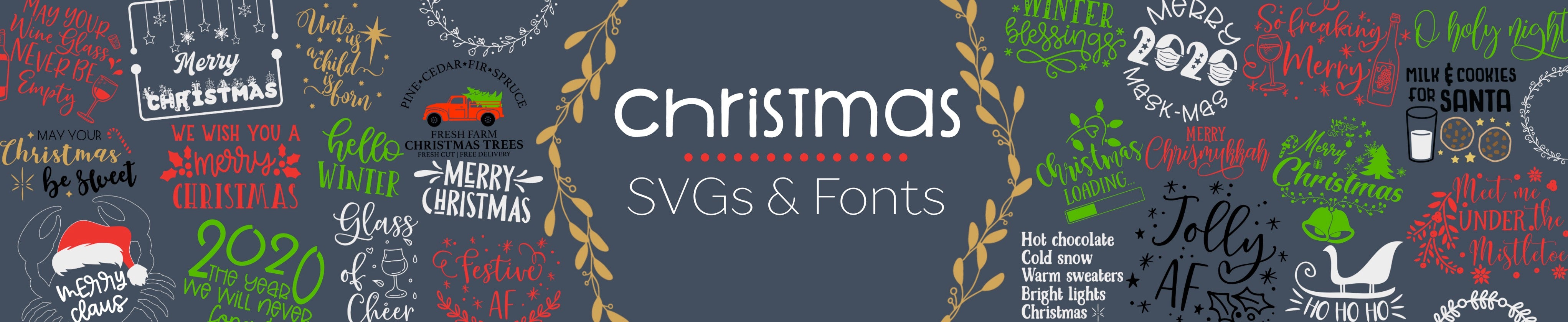 Commercial Free Christmas SVG Designs and Fonts