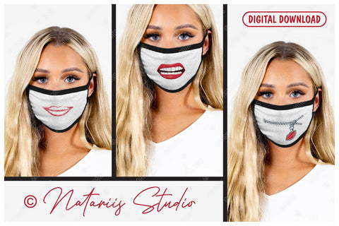 20 SVG Funny designs for protective face mask and other ideas. SVG Natariis Studio