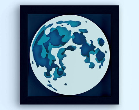 Download 3d Layered Moon Svg 3d Svg Laser Cut Files Cnc Files For Wood Shadow Box Svg Laser Cut Moon Papercraft Moon Glowforge Svg Files So Fontsy