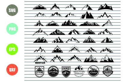 41 Styles Mountains SVG, Forest SVG File for Cricut, Travel outdoor SVG, wild design, mountain and trees Svg, Mountain svg, hill svg, nature svg, rock svg SVG Artstoredigital
