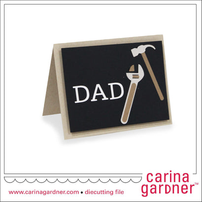 4.25 in. x 5.5 in. Tool Card SVG Carina Gardner