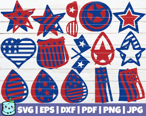 4th Of July Earrings SVG MintyMarshmallows