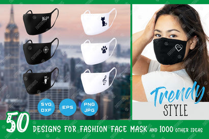 50 SVG Trendy Fashion designs for protective face mask and 1000 other ideas. SVG Natariis Studio