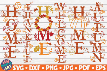 6 Porch Fall/Thanksgiving signs SVG Bundle SVG HQDigitalArt