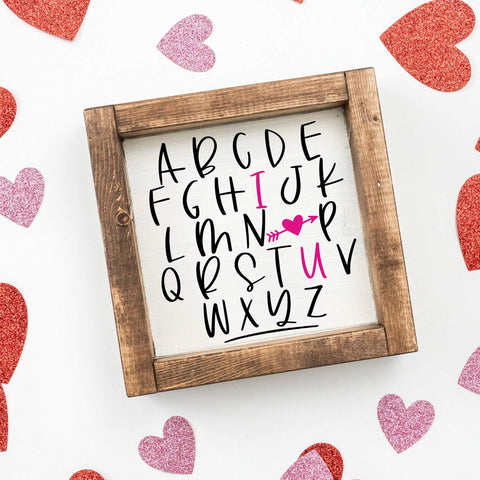 ABC I Love You SVG SVG Simply Cutz