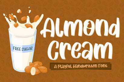 Almond Cream Fun Font Font Creakokun Studio
