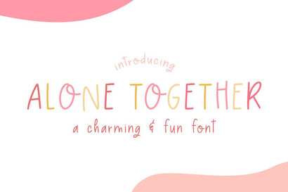 Alone Together Font Font Salt & Pepper Designs
