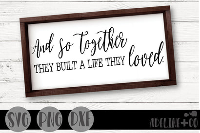And so together, they built a life they loved SVG Adeline&co