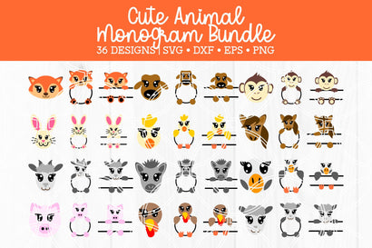Animal Face Cut File Bundle SVG SavanasDesign