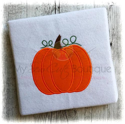 Applique Pumpkin - Machine Embroidery Design - 10 Sizes - Instant Download Embroidery/Applique My Sew Cute Boutique