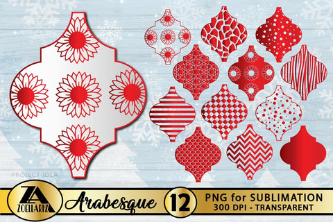 Arabesque Ornament PNG Bundle-Arabesque PNG for Sublimation SVG zoellartz