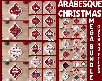 Arabesque Tile Ornament Svg - Christmas Svg - Mega Bundle SVG Crafty Mama Studios