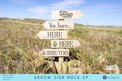 Arrow sign Mock up Mock Up Photo Mae Middleton Studio