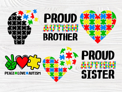 love proud mom puzzle autism file Cricut Silhouette friends autism family png autism awareness ausome Autism svg dad I be here for you