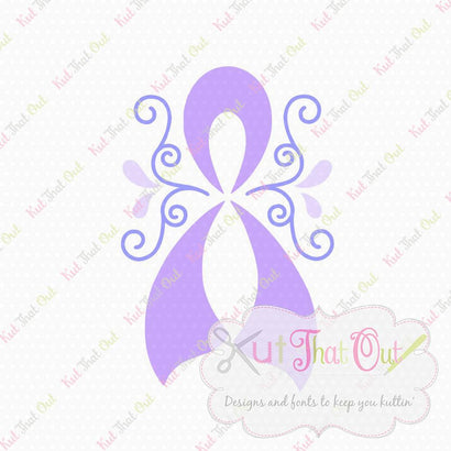Awareness Ribbon SVG & DXF Cut File SVG Kut That Out