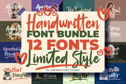Awesome Handwritten Fonts from Perspectype Studio Font Perspectype Std