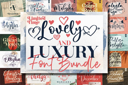 Awesome Lovely & Luxurious Font Bundle Font Letterena Studios