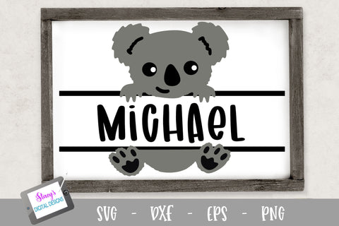 Baby Animal Split Monogram Bundle - 6 Designs SVG Stacy's Digital Designs
