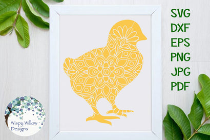 Baby Chick Mandala SVG Wispy Willow Designs