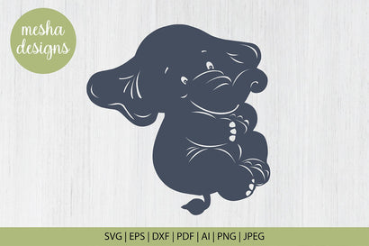 baby elephant svg cut file - baby elephant clipart SVG DIYCUTTINGFILES