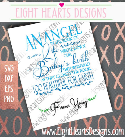 Baby Memorial SVG SVG Eight Hearts Designs