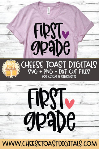 Back to School SVG | First Grade SVG Cheese Toast Digitals