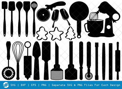 Bakery SVG Cut Files | Baking Equipment Silhouette Bundle SVG ETC Craft