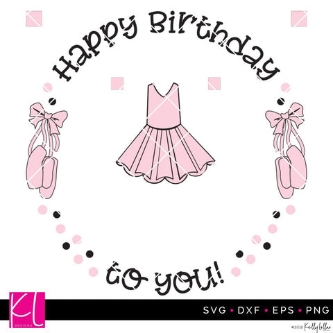 Ballerina Birthday Plate Design SVG Kelly Lollar Designs