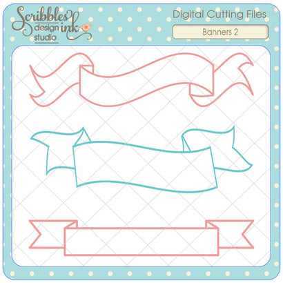Banners 2 SVG Scribbles ink