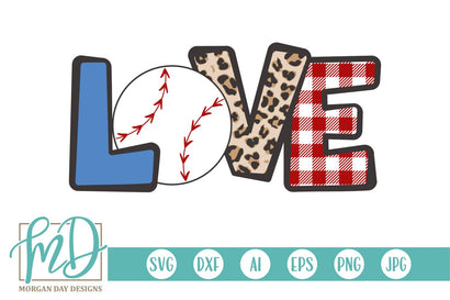 Baseball Love SVG Morgan Day Designs