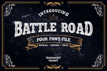 Battle Road Font Fachranheit Studio