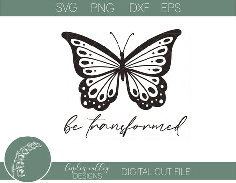 Be Transformed Religious SVG SVG Linden Valley Designs