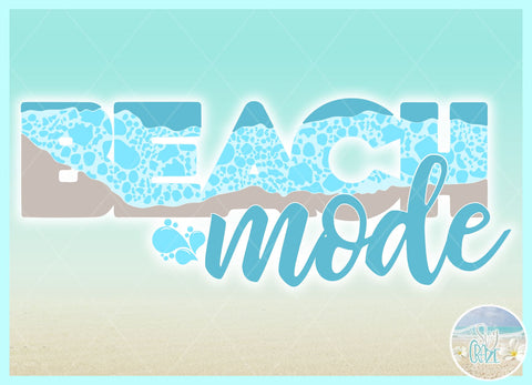 Beach Mode Quote With Bubbles SVG SVG SVGcraze