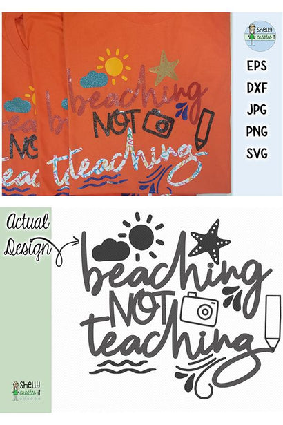Beaching not Teaching SVG Shelly Creates IT