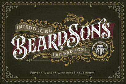 Beardsons - Layered Font Font Arterfak Project