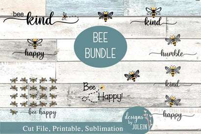 Bee Bundle SVG Designs by Jolein