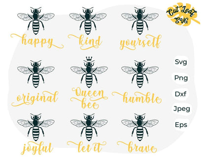 Bee bundle svg, Queen bee svg, bee svg, bee clipart, honey bee svg, teacher svg, summer svg, farm svg, farm clipart SVG CutLeafSvg