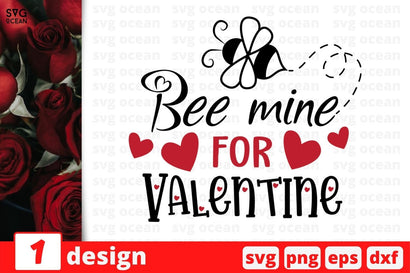 Bee mine For Valentine SVG SvgOcean