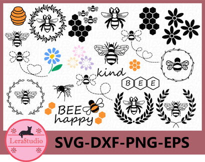 Bee Svg SVG Lerastudio