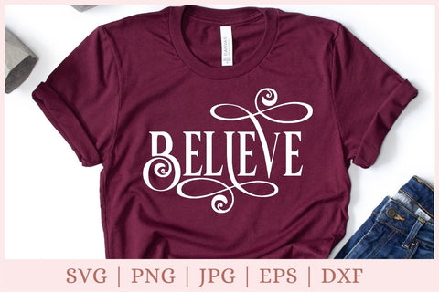 Believe SVG - Christmas 2020 SVG SVG CrazyCutDesigns