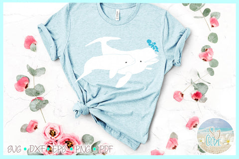 Beluga White Whale Mom and Baby SVG SVG SVGcraze