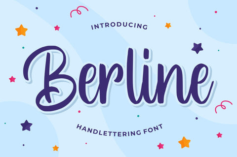 Berline – Handlettering Font Font Good Java
