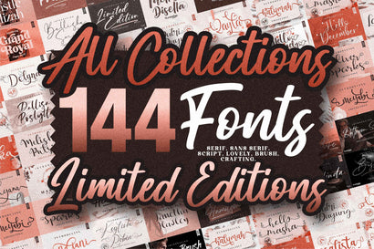 Best Seller - Mega Bundle 144 Fonts Font Letterena Studios