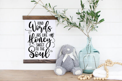 Bible Verse SVG -Kind Words Are Like Honey Sweet To The Soul SVG Simply Cutz