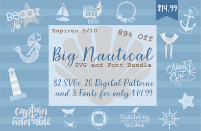 Big Nautical SVG & Font Bundle Bundle So Fontsy Design Shop