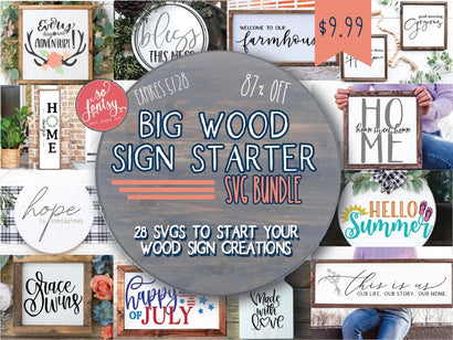 Big Wood Sign Starter SVG Bundle Bundle So Fontsy Design Shop