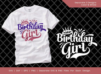 Birthday Girl SVG Cut File | Women Birthday Svg | Birthday Gift | Funny Quote Svg | Birthday T-shirt Design SVG ETC Craft