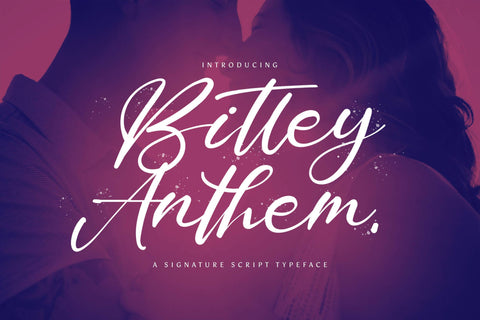 Bitley Anthem - Handwritten Font Font StringLabs