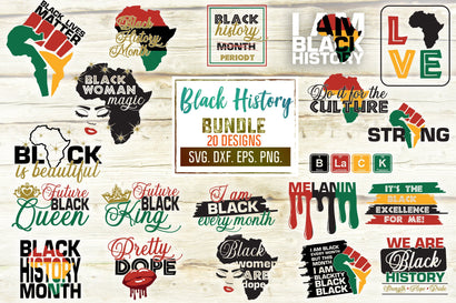 Black History Month Svg Bundle. BLM. African Melanin Svg. Afro Queen Svg. Black Pride Svg. Black Queen Svg. African American png dxf eps SVG Mint And Beer Creations