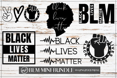 Black Lives Matter Mini SVG Bundle - 6 SVG MockupSvgVenue